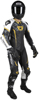 Adrenaline GP Leather One-Piece Race Suit Black/Camo 2X-Large