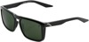 Renshaw Sunglasses Black w/ Gray/Green Lens