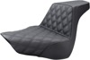 Step-Up Front Lattice Stitch 2-Up Seat Gel - For 2018 Harley FLFB/S