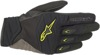 Shore Motorcycle Gloves Black/Yellow X-Large