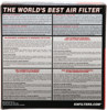 "Custom Air Filter - 6-3/8""OD,5""ID,1-3/4""H"
