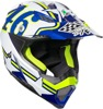 AX-8 Evo Full Face Helmet Blue/Hi-Vis/Multi/White/Yellow Large