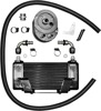 Horizontal Low Mount 10-Row Oil Cooler Black - For 09-15 Harley Touring