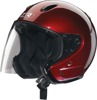 Ace Open Face Motorcycle Helmet - X-Small Wine