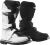 Blitz XP Dirt Bike Boots - Black & White MX Sole Youth Size 7
