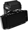 Horizontal Low Mount Oil Cooler Black w/Fan - For 09-15 Harley Touring