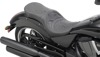 Crusade Stitched 2-Up Seat Black Low - For 03-17 Victory