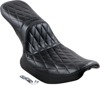 Daytona Diamond Vinyl 2-Up Seat Black - For 82-94 Harley FXR