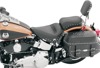 Concho Skirt Studded Vinyl Solo Seat - For 00-17 Harley Softail