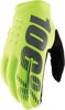 Brisker Gloves - Fluorescent Yellow Short Cuff Youth Large
