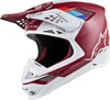 Supertech S-M8 Contact Helmet Dark Red/White 2X-Large