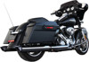 Baritone Chrome Contrast Slip On Exhaust - 95-16 Harley Touring FLH FLT