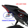 Black Fender Eliminator Kit w/ Turn Signal Pods - Yamaha R1