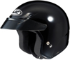 CS-5N Solid Black 3/4 Open-Face Helmet 2X-Small