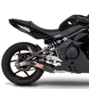 Race TRC Carbon Fiber Slip On Exhaust - 09-11 Kawasaki Ninja 650R