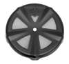 Skullcap Air Cleaner Cover Black - Vented 5 Spoke