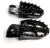 57mm Ultra Wide Black Aluminum Footpegs - KTM & Husq. Mini SX