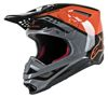 Supertech M8 Triple Motorcycle Helmet Orange/Grey/Black Large
