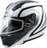 MD-04S MODULAR DOCKET SNOW HELMET WHITE/BLACK - Small