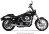2-1 Comp-S Brushed Full Exhaust CF Cap - For 87-99 HD FXR Dyna