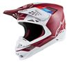 Supertech M8 Contact Motorcycle Helmet Dark Red/White Large