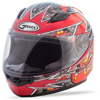 Youth GM-49Y Alien Full-Face Helmet Black/Red/Yellow Y-Small