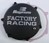 Black Factory Racing Clutch Cover - 03-04 Kawasaki KX250