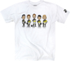 Caricatures Tee White Small
