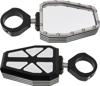 "Billet Side Mirrors Diamond W/Bezel Polished 1.75"" (PAIR)"