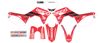 2019 Geico Honda Complete Graphics Kit White - For 2019 CRF450R