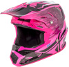 Toxin Resin Helmet Black/Neon Pink Youth Large