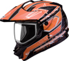 Gm-11S Dual-Sport Nova Snow Helmet Black/Orange/White Xs