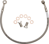Stainless Steel Hydraulic Rear Brake Line - For 06-12 Yamaha