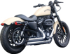 Upstarts 2-in-2 Chrome Full Exhaust - For 04-19 HD XL Sportster