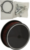 "HP Custom Round Air Cleaner 5-7/8"" Smooth Black - For 88-16 HD"