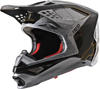 Supertech S-M10 Alloy Helmet Silver/Black/Carbon/Gold 2X-Large