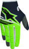 Youth Radar Flight Gloves Anthracite/Green Y-2X-Small