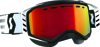 Goggle Prospect Snow Black/White Amp Red Chrome Lens