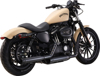 "Loose Cannon Black 3"" Dual Slip-On Exhaust - 04-13 H-D XL Sportster"
