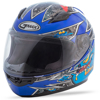 Youth GM-49Y Alien Full-Face Helmet Black/Blue/Yellow Y-Small