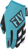 Kinetic Women's MX Riding Gloves Blue/Teal Youth Large