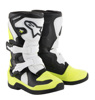 Tech 3S Yooth MX Boots Black/White/Yellow Size 1