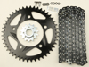 Black Chain & Sprocket Kit - 520 15/43 Conversion HFRA Aluminum - For 91-98 Honda CBR600F2/F3