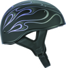 .357 Flame Half Helmet Purple 2X-Large