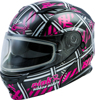 MD-01S MODULAR PINK RIBBON RIDERS SNOW HELMET BLK/PINK - Large
