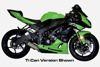 Carbon Fiber 3/4 Slip On Exhaust - For 09-20 Kawasaki ZX6R