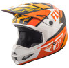 Elite Guild Motorcycle Helmet Orange/White/Black Youth Large