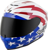 Exo-R420 Full-Face Tracker Helmet Red/White/Blue 2X - MURICA