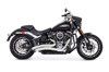 Sharp Curve Radius Full Exhaust For 2018 M8 Softail - Chrome W/Black Tips
