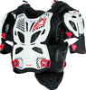 A-10 Full Chest Protector White/Black/Red M/L